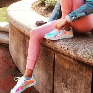 Tretorn Camden Iridescent Lace Up Sneakers Size 8